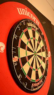 Dartboard at Lofty's Bar, Briston Pavilion