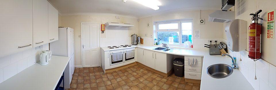 The kitchen at Briston Pavilion